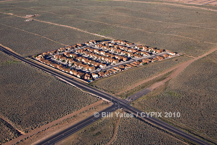 Residential development northwest of Albuquerque New Mexico helicopter aerial