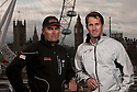 "Ben Ainslie, four time Olympic medallist pictured with Russell Coutts, head of Oracle Racing and current holder of the Americas Cup. .Shown here in central London as he launches ""Ben Ainslie Racing"". A new team that will compete in 2012 Americas Cup World Series..Credit: Lloyd Images / Ben Ainslie Racing"