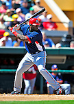 5 March 2009: Washington Nationals' outfielder Elijah Dukes in action during a Spring Training game against the Detroit Tigers at Joker Marchant Stadium in Lakeland, Florida. The Tigers defeated the visiting Nationals 10-2 in the Grapefruit League matchup. Mandatory Photo Credit: Ed Wolfstein Photo