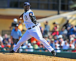 11 March 2009: Detroit Tigers' pitcher Fernando Rodney on the mound during a Spring Training game against the New York Yankees at Joker Marchant Stadium in Lakeland, Florida. The Tigers defeated the Yankees 7-4 in the Grapefruit League matchup. Mandatory Photo Credit: Ed Wolfstein Photo