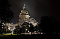 The Texas Capitol is an impressive building by any measure. When the 360,000 square foot building was completed in 1888, it was claimed to be the seventh largest building in the world. Some 1,000 men worked every day for four years at the height of the project. The product of their labor stood 311 feet tall from the ground to the toes of the Goddess of Liberty, covered 2 1/4 acres, contained 392 rooms, 18 vaults, 924 windows, 404 doors, 4,000 railroad cars of granite, 11,000 railroad cars of limestone and other materials, and cost $3,744,600 to build. it was also said to be taller than the National Capitol, although a carefully measured comparison has yet to be made.