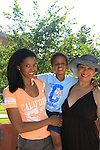 "One Life To Live Renee Elise Goldsberry ""Evangeline Williamson"" poses with her son Benjamin who is 4 and mom Betty Sanders. Renee stars in ""Animal Crackers"" on July 6, 2013 at the Williamstown Theatre Festival, Williamstown, Massachusetts.(Photo by Sue Coflin/Max Photos)"