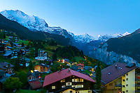 Sunrise in the Swiss Alps, Wengen, Canton Bern, Switzerland