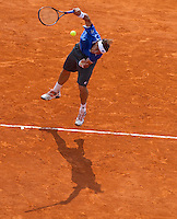 David FERRER (ESP) against Phillip KOHLSCHREIBER (GER) in the .Quarter Finals. David Ferrer beat Phillip Kohlschreiber 7-5 7-6..International Tennis - 2010 ATP World Tour - Masters 1000 - Monte-Carlo Rolex Masters - Monte-Carlo Country Club - Alpes-Maritimes - France..© AMN Images, Barry House, 20-22 Worple Road, London, SW19 4DH.Tel -  + 44 20 8947 0100.Fax - + 44 20 8947 0117