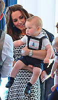 Prince George, first official event with parents Kate & William - New Zealand