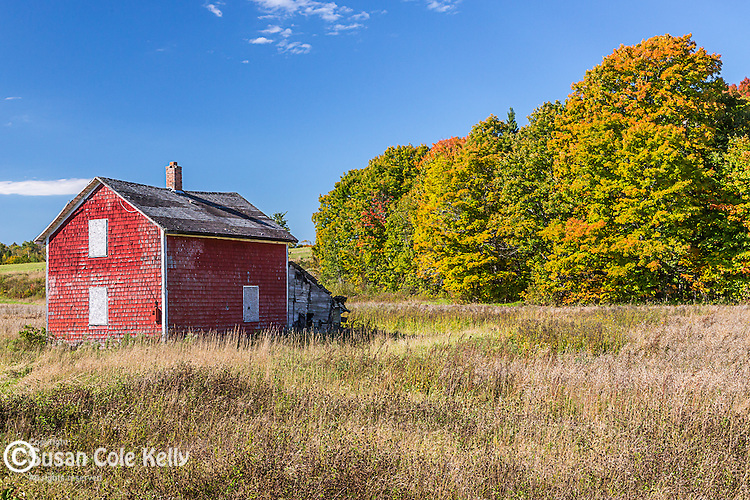 Farm country in Presque Isle, Maine, USA