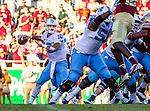North Carolina quarterback Mitch Trubisky passes in the second half of an NCAA college football game against Florida State in Tallahassee, Fla., Saturday, Oct. 1, 2016. North Carolina defeated Florida State 37-35 on a field goal. (AP Photo/Mark Wallheiser)