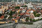 Cartagena old quarter, Cartagena de Indias, Bolivar Department, Colombia, South America.