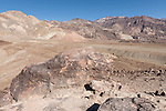 Death Valley National Park, California; views of the multi-colored rock formations seen while on the Artist Drive