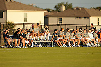 SAN ANTONIO, TX - AUGUST 16, 2013: UTSA opens the new Park West Athletics Complex with a dedication ceremony and and an exhibition Women's Soccer match between the University of the Incarnate Word Cardinals and the University of Texas at San Antonio Roadunners. (Photo by Jeff Huehn)