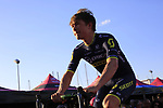 Chris Juul Jensen (IRL/DEN) Orica-Scott at the Team Presentation in Alghero, Sardinia for the 100th edition of the Giro d'Italia 2017, Sardinia, Italy. 4th May 2017.<br /> Picture: Eoin Clarke | Cyclefile<br /> <br /> <br /> All photos usage must carry mandatory copyright credit (&copy; Cyclefile | Eoin Clarke)