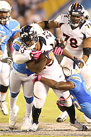 10/15/12 San Diego, CA: Denver Broncos running back Willis McGahee #23 during an NFL game played between the San Diego Chargers and the Denver Broncos at Qualcomm Stadium. The Broncos defeated the Chargers 35-24.