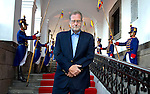 Peter Greenberg at the Presidential residence in Quito