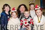 Where's Santa<br /> --------------------<br /> Kingdom Greyhound Stadium, Tralee, had a 'Meet Santa' last Saturday night, and there to see him were Ardfert family of Maurice, Holly, Eva, Brendan, Eva jnr and Mia Costello.