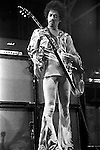 Jimi Hendrix 1970 at Isle Of Wight Festival with his custom 1967 Gibson Flying V