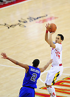 Seth Allen to the Terrapins pulls up for jumper. Maryland defeated Duke 81-83 at the Comcast Center in College Park, MD on Saturday, February 16, 2013. Alan P. Santos/DC Sports Box