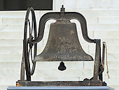 A cast-iron bell from the 16th Street Baptist Church in Birmingham, Alabama where a bomb killed four black girls in September 1963 that was rung at the Let Freedom Ring ceremony on the steps of the Lincoln Memorial to commemorate the 50th Anniversary of the March on Washington for Jobs and Freedom<br /> Credit: Ron Sachs / CNP