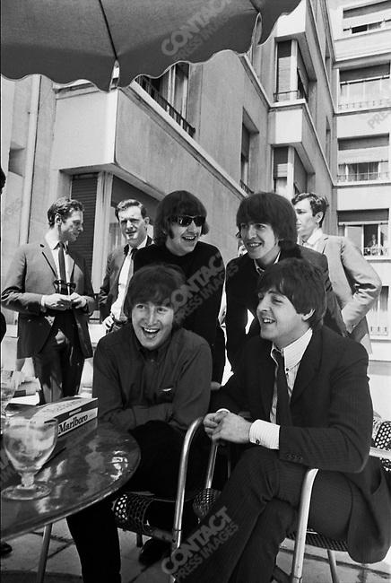 The Beatles at the George V Hotel near the Champs Elysées, Paris, France, June, 1965