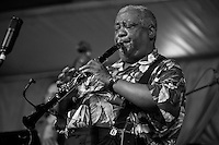 New Orleans jazz clarinetist and educator Alvin Batiste performing on the WWOZ stage in the Jazz Tent at the New Orleans Jazz and Heritage Festival on May 6, 2006 in New Orleans, Louisiana. USA.