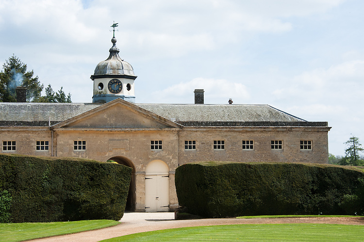 The stables block and clock tower, Rousham House and Garden.