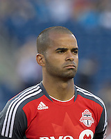 Toronto FC midfielder Maicon Santos (29). In a Major League Soccer (MLS) match, the New England Revolution tied Toronto FC, 0-0, at Gillette Stadium on June 15, 2011.