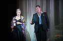 Opera North presents THE MAKROPULOS CASE, by Janacek, at the Festival Theatre, as part of the Edinburgh International Festival. Picture shows: Ylva Kihlberg (as Emilia Marty) and Robert Hayward (as Jaroslav Prus).
