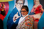 India's megastar Amitabh Bachchan attends the opening ceremony of the third edition of the India by the Nile festival, in Cairo on March 31, 2015. Photo by Amr Sayed