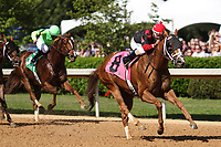 HOT SPRINGS, AR - April 15: Whitmore #8 and jockey Ricardo Santana, Jr. win the Count Fleet Sprint Handicap at Oaklawn Park on April 15, 2017 in Hot Springs, AR. (Photo by Ciara Bowen/Eclipse Sportswire/Getty Images)