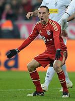 FUSSBALL   1. BUNDESLIGA  SAISON 2012/2013   17. Spieltag FC Bayern Muenchen - Borussia Moenchengladbach    14.12.2012 Franck Ribery (FC Bayern Muenchen)