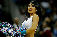 Dec 18, 2009; New Orleans, LA, USA;  New Orleans Hornets Honeybees dancers perform during the second half of a game against the Denver Nuggets at the New Orleans Arena. The Hornets defeated the Nuggets 98-92. Mandatory Credit: Derick E. Hingle-US PRESSWIRE