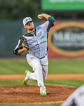 4 September 2016: Vermont Lake Monsters pitcher Ty Damron on the mound against the Lowell Spinners at Centennial Field in Burlington, Vermont. The Lake Monsters fell to the Spinners 8-3 in NY Penn League action. Mandatory Credit: Ed Wolfstein Photo *** RAW (NEF) Image File Available ***