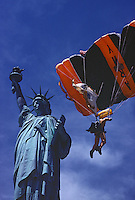 Statue of Liberty &amp; Army Parachute Jumper, New York, New Jersey, Statue of Liberty National Monument, Manhattan An Island in Focus book page 39