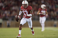 Stanford, CA - September 2, 2016: Taijuan Thomas during the Stanford vs Kansas State football game at Stanford Stadium. The Cardinal defeated the Wildcats 26-13.