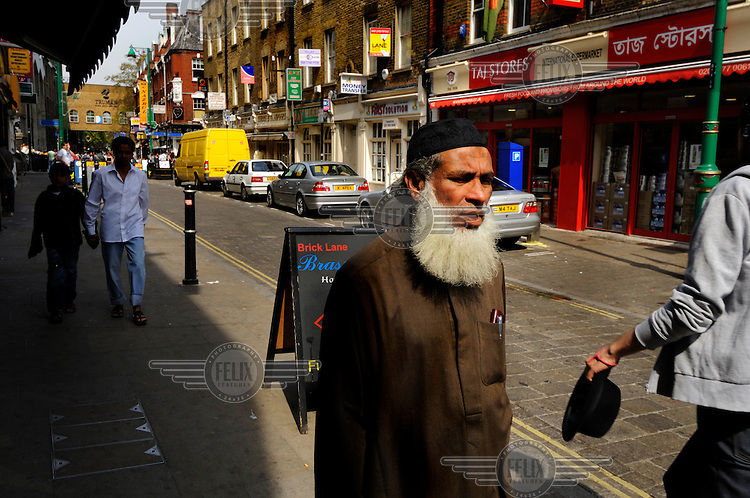 London's Brick Lane, heart of the city's Bangladeshi community.