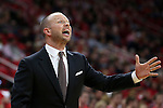 27 November 2015: Winthrop head coach Pat Kelsey. The North Carolina State University of North Carolina Wolfpack hosted the Winthrop University Eagles at the PNC Arena in Raleigh, North Carolina in a 2015-16 NCAA Division I Men's Basketball game. NC State won the game 87-79.