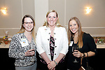 Waterbury, CT- 21 March 2017-032117CM08-  SOCIAL MOMENTS---  From left, Jessica Allen, Renee Sajda and Jaclyn Kish with Ion Bank during The Children's Community School Board of Directors Annual Awards Dinner at La Bella Vista in Waterbury on Tuesday.   Christopher Massa Republican-American