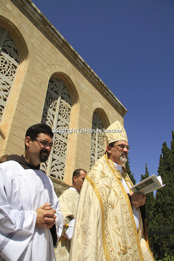 Israel, Jerusalem, the Custos of the Holy Land Fr. Pierbattista Pizzaballa ofm leads the Visitation Day ceremony at the Church of the Visitation in Ein Karem