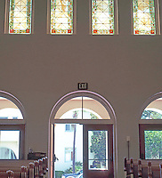Irving Gill: First Church of Christ Scientist. Church interior. (Photo 2000)