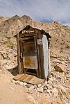 One-holer outhouse, Minnietta Mine, Argus Range of California