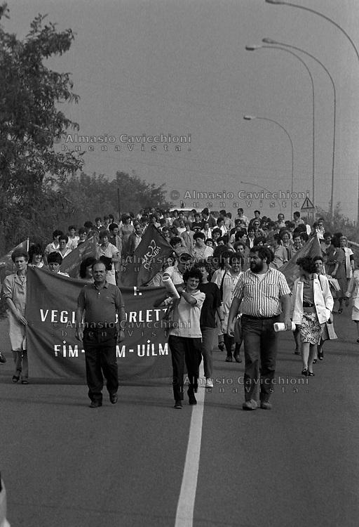 1988 Veglia Borletti, manifestazione per la difesa del posto di lavoro<br /> 1988 Veglia Borletti, demonstration in defence of the workplace