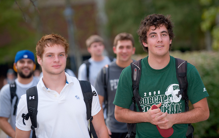 19100Campus Fall....Cameron Hiller(green shirt) and J.D. Billy (white shirt)
