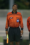05 October 2015: Assistant Referee Justin Kohrs. The Duke University Blue Devils hosted the Hofstra University Pride at Koskinen Stadium in Durham, NC in a 2015 NCAA Division I Men's Soccer match. Duke won the game 3-2 in overtime.