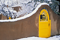 Snow Scenes New Mexico and Santa Fe photos