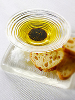 dipping olive oil snack.