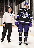 Brendan Blanchard, Logan Smith (HC - 33) received a game misconduct in the first period. - The Bentley University Falcons defeated the College of the Holy Cross Crusaders 3-2 on Saturday, December 28, 2013, at Fenway Park in Boston, Massachusetts.