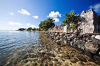 Ancient temple Taputapuatea Marae on Raiatea, French Polynesia
