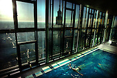 Warsaw 09.05.2008 Poland<br /> Warsaw Intercontinental Hotel with highest placed swimming pool in Poland on 43th floor, available only for Very Important Person and tenants from Hotel.<br /> Photo by Adam Lach / Napo Images<br /> <br /> Warszawski Hotel Intercontinental z najwyzej poloznym basenem w Polsce dostepnym tylko dla vip-ow i lokatorow hotelu.<br /> Fot: Adam Lach / Napo Images