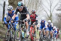 Luke Row (GBR/Team Sky) well positioned on the Oude Kwaremont<br /> <br /> 69th Kuurne-Brussel-Kuurne 2017 (1.HC)