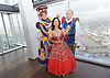 Dick Whittington <br /> publicity pictures <br /> taken from The View From The Shard, London Bridge Quarter, London, Great Britain <br /> press photocall <br /> 17th November 2016 <br /> <br /> <br /> Matthew Kelly as Sarah the Cook <br /> <br /> Arlene Phillips as Fairy Bowbells <br /> <br /> <br /> Tim Vine as idle jack <br /> <br /> <br /> Photograph by Elliott Franks <br /> Image licensed to Elliott Franks Photography Services