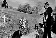 Arlington National Cemetery, Arlington, Virginia, USA. February 15th,1972. André Malraux visits the gravesite of U.S. President John F. Kennedy, in Arlington National Cemetery. He also met and consulted with American President Richard Nixon before leaving to China. Malraux is a French art theorist and novelist, who wrote the 1933 Prix Goncourt winning novel La Condition Humaine. He was the Minister for Cultural Affairs during Charles de Gaulle's presidency from 1959 to 1969.